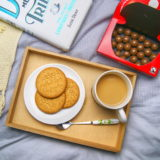 Enjoying some yorkshire tea Biscuit Brew with Maltesers and a good book!